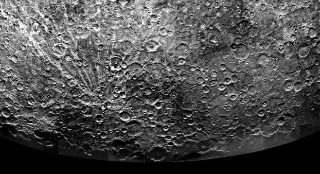 Craters inside craters on Mercury.